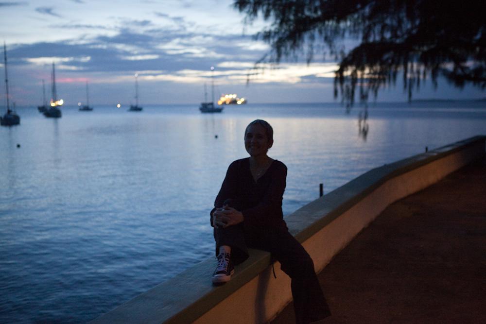 Linda next to the lagoon / Photo; Jessie Boylan