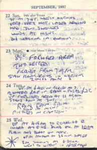 Original diary of nuclear veteran  John Walden