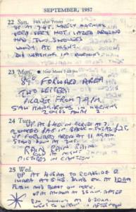 Original diary of nuclear veteran  John Walden