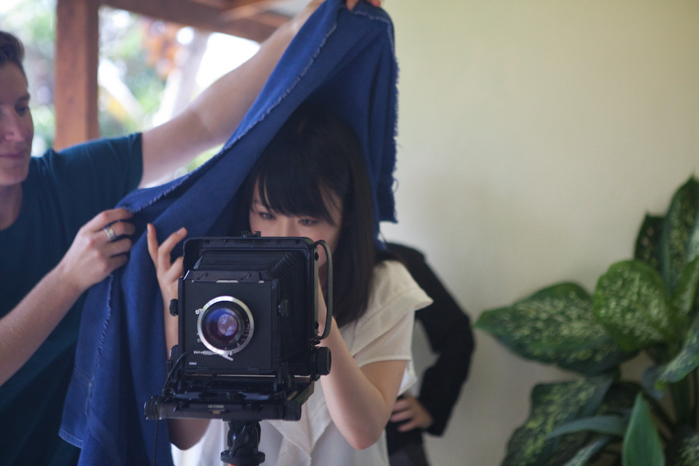 Jessie and Kana with the 5x4 camera