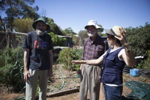 John, Avon and Teresa Crea, Director (left to right)/ Photo by Jessie Boylan