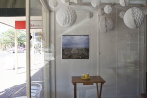 Jessie Boylan's photography displayed in Balaklava shopfront, March 2014