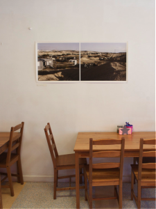 Jessie's art displayed in local cafe