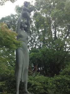 'Hymn to Life' from the City of Pistoia, Italy. Nagasaki Peace Park.