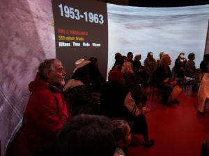 Inside projection installation. Photo by Tony Kearney.